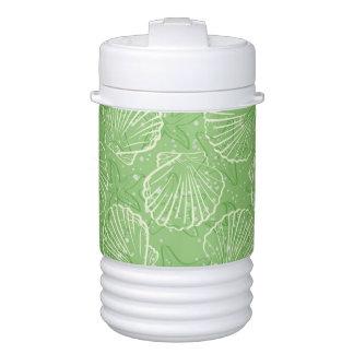 Outline seashells drinks cooler