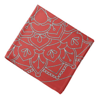 Outlined Floral Mandala  060517_1 Bandana