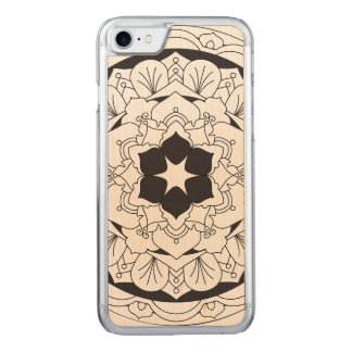 Outlined Floral Mandala 060517_4 Carved iPhone 7 Case