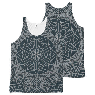 Outlined Mandala Design 060517_3 All-Over Print Tank Top