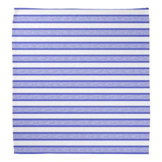 Outlined Stripes Blue Bandana