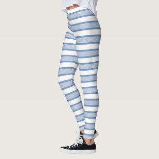 Outlined Stripes Blue/Grey Leggings