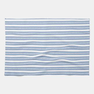 Outlined Stripes Blue/Grey Tea Towel