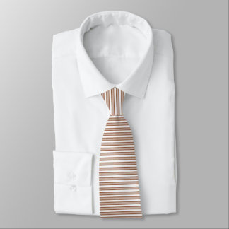 Outlined Stripes Brown Tie
