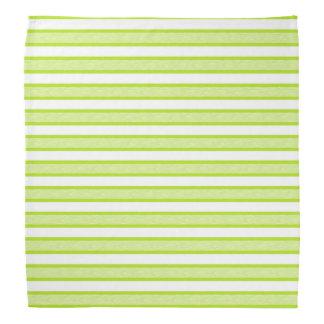 Outlined Stripes Lime Green Bandana