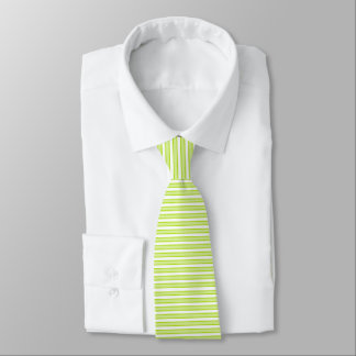 Outlined Stripes Lime Green Tie