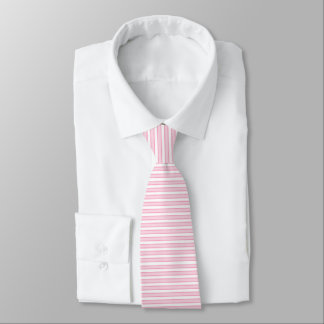 Outlined Stripes Pink Tie