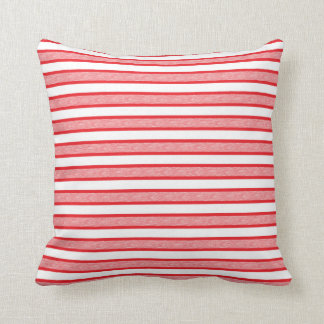 Outlined Stripes Red Cushion