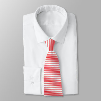 Outlined Stripes Red Tie