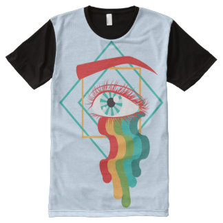 """Outpour"" Unisex Tee All-Over Print T-Shirt"