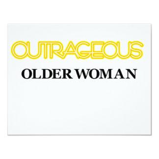 Outrageous Older Woman 11 Cm X 14 Cm Invitation Card