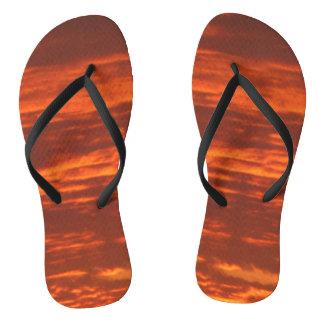 Outrageous Orange Sunrise Flip Flops