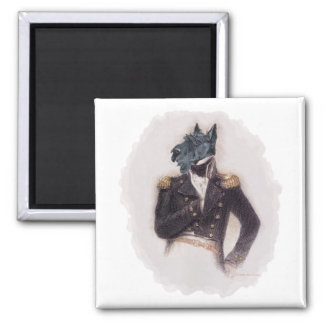 Outrageously Heroic Scottish Terrier Square Magnet