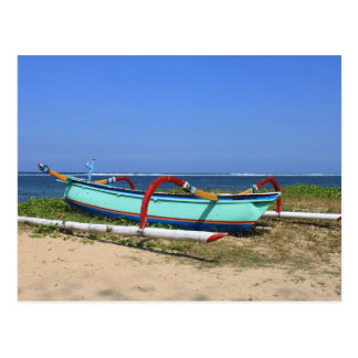 Outrigger boat postcard