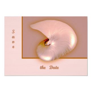 Outside  Nautilus 13 Cm X 18 Cm Invitation Card
