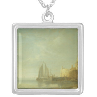 Outside Rotterdam Silver Plated Necklace
