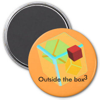 Outside the box fridge magnet