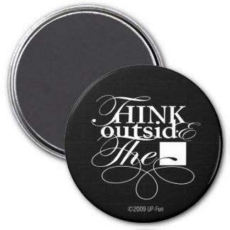 Outside the Box White Logo 7.5 Cm Round Magnet