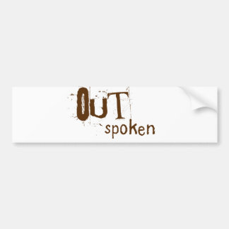 OUTSpoken Bumper Sticker