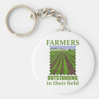 Outstanding Farmers Basic Round Button Key Ring