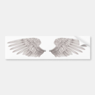outstretched beautiful white wings bumper stickers