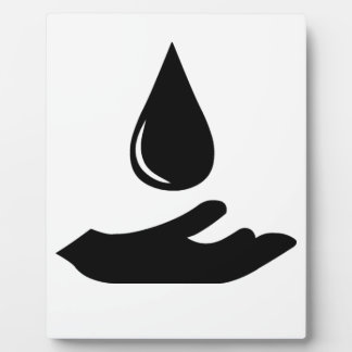 Outstretched Hand and Water Droplet Display Plaque