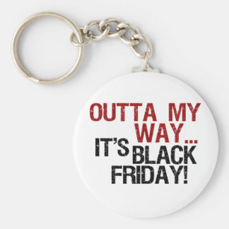 outta my way black friday basic round button key ring