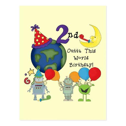 Outta This World 2nd Birthday Tshirts Post Card