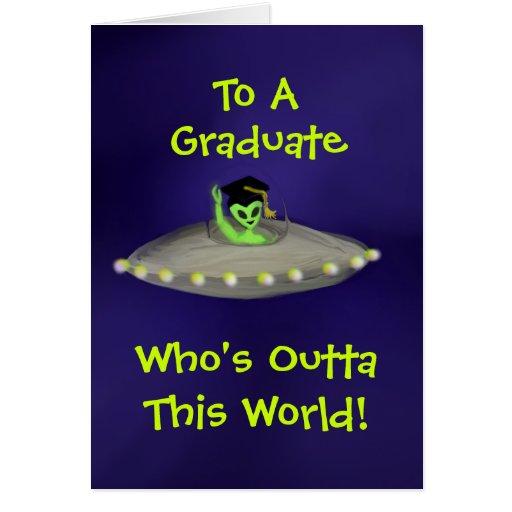 Outta This World Graduate card