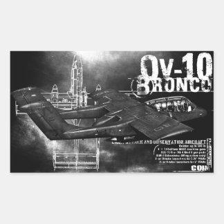 OV-10 Bronco Rectangular Sticker