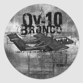 OV-10 Bronco Round Sticker