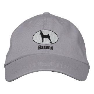 Oval Basenji Embroidered Hat