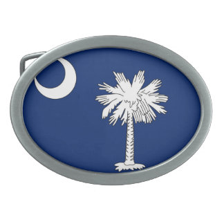 Oval Belt Buckle Featuring the SC Flag
