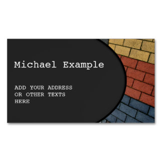 OVAL BUTTON - black + your text & ideas Magnetic Business Cards
