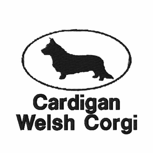 Oval Cardigan Welsh Corgi Embroidered Shirt