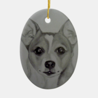 Oval Chihuahua Ornament artwork by Carol Zeock