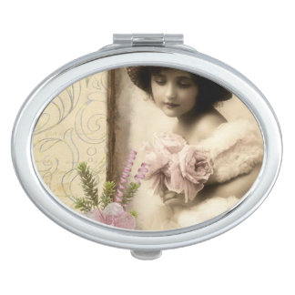 Oval Compact Vintage Compact Makeup Mirror