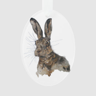 Oval decoration hare