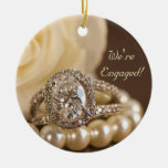Oval Diamond Ring Engagement Round Ornament