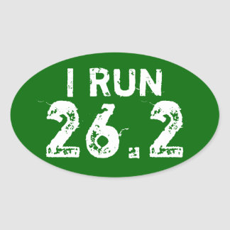 Oval Forres Green I Run 26.2 Sticker