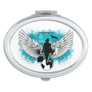 Oval Kciafa woman compact mirror