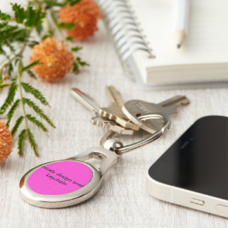 Oval keychain Silver-Colored oval key ring