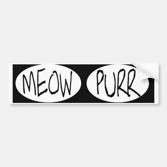 oval MEOW PURRBUMPER STICKERS meow purr ... cat lo Bumper Sticker