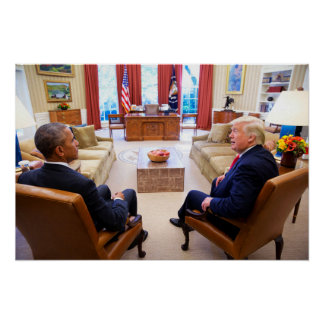Oval Office Meeting 2 Days After Election Poster