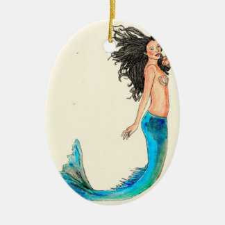 Oval Ornament Mermaid Willow