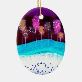 "Oval Ornament ""Winter"""