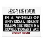 OVAL ORWELL UNIVERSAL DECEIT PERSONALIZED INVITES