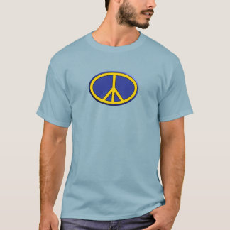 Oval peace love music T-Shirt