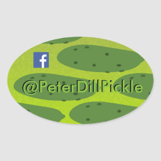 Oval Peter Dil Pickle Oval Sticker
