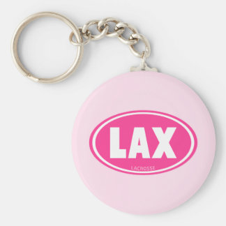 Oval-pink Basic Round Button Key Ring
